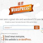 このサイト、WordPressかな?を確認できるWebサービス「Is it WordPress?」