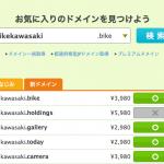 新ドメイン「bikekawasaki.bike」がまだ取得可能