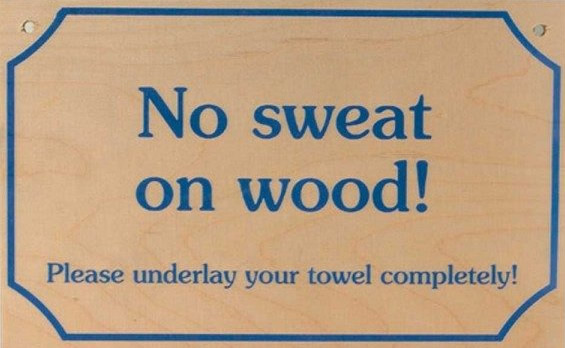 NO SWEAT ON WOOD